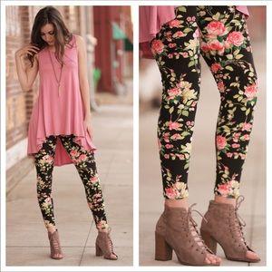 🌷Pink Roses Legging 🏅